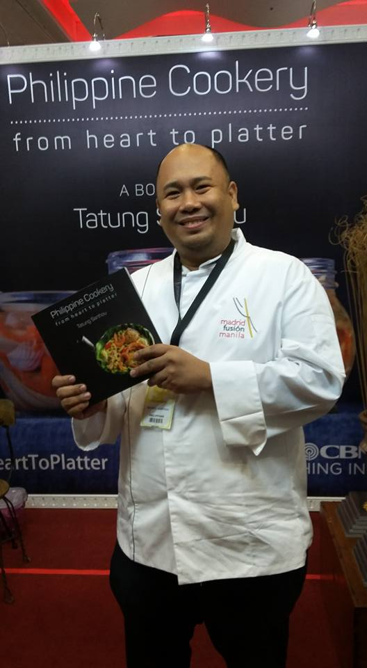 Finally got the first copy of Philippine Cookery: from heart to platter. Available in booth 120 mat the Madrid Fusion exhibit area! Php595 only.