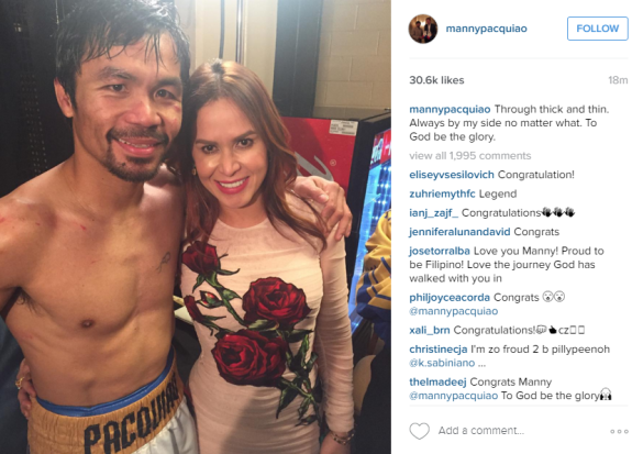 Photo via Manny Pacquiao's Instagram account.