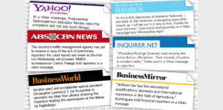 Viber is now the best source of news - Bravo Filipino