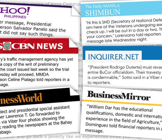 Viber is now the best source of news - Bravo Filipino