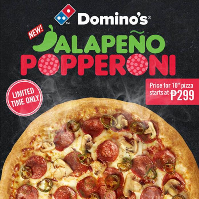 Domino's Hottest Pizza Jalapena Popperoni Pizza - Bravo Filipino