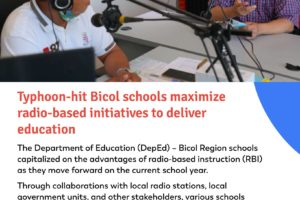 Radio-based initiatives to deliver education