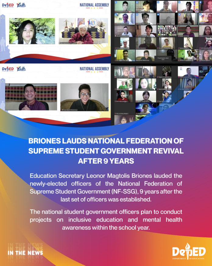 Briones lauds National Federation