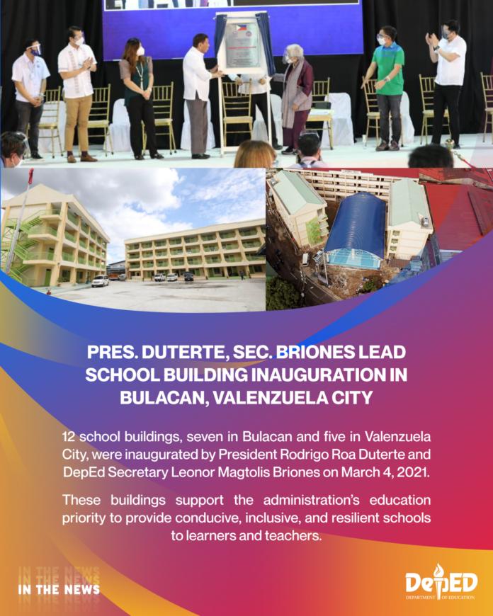 Pres. Duterte Sec. Briones lead school building