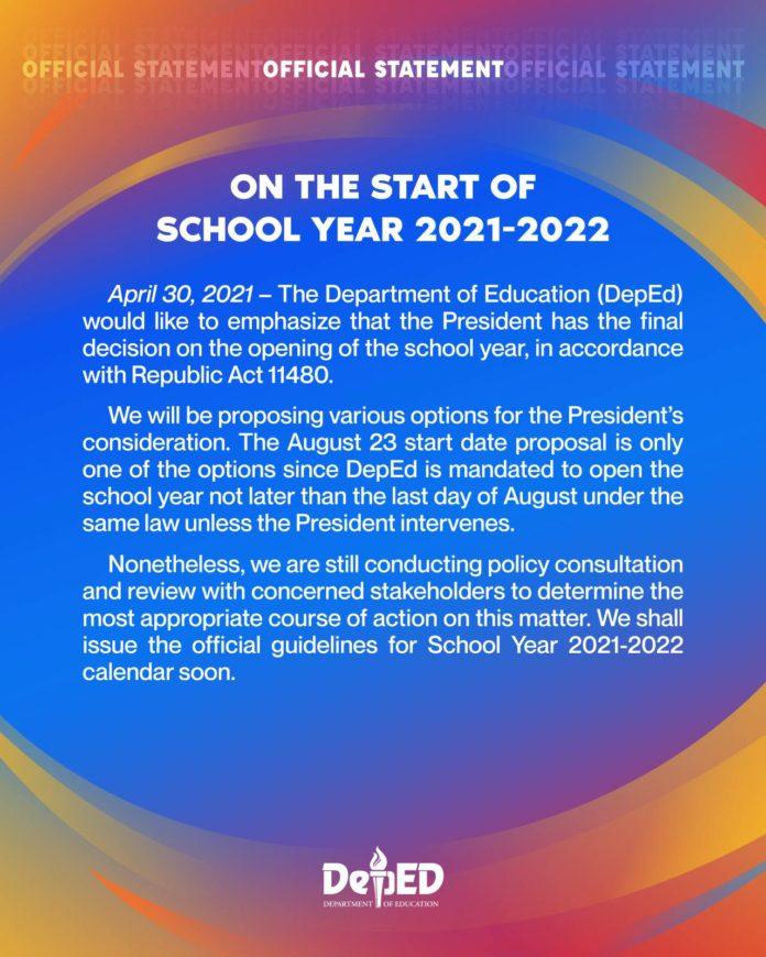 School Year 2021-2022