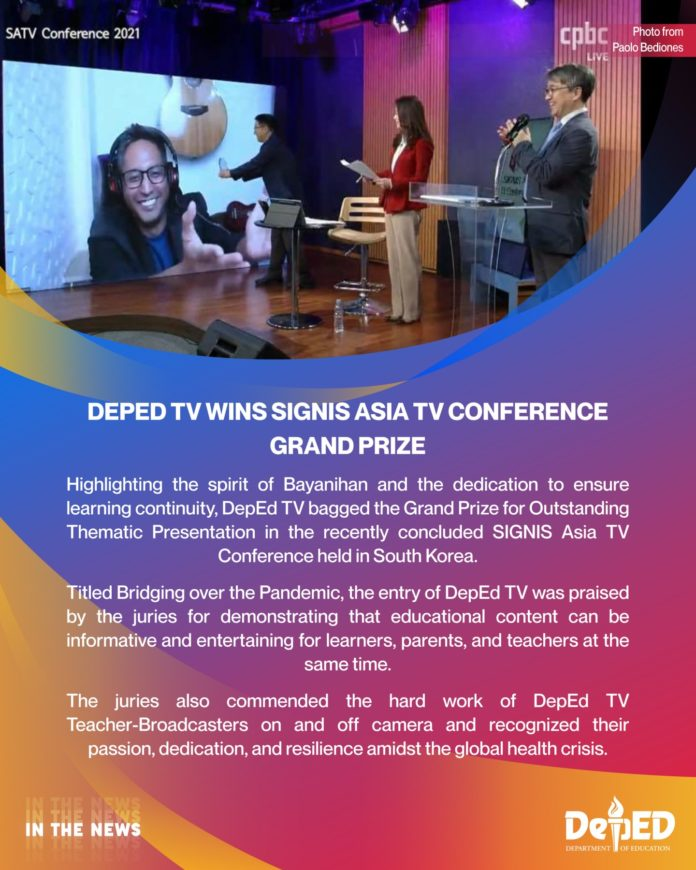 DepEd TV wins the Grand Prize