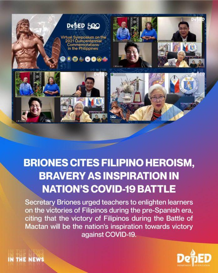 Briones cites Filipino heroism