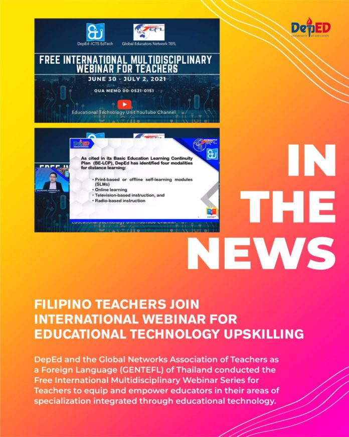 Filipino teachers join international webinar