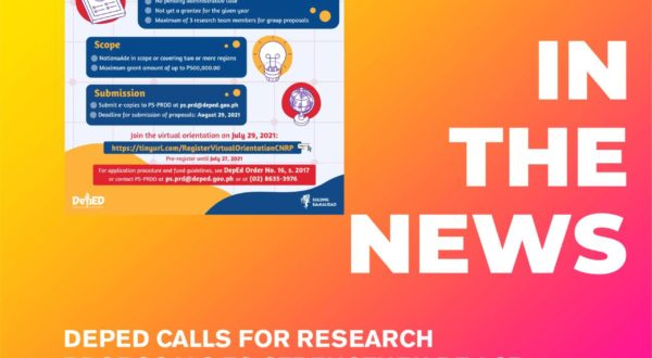 DepEd calls for research proposals
